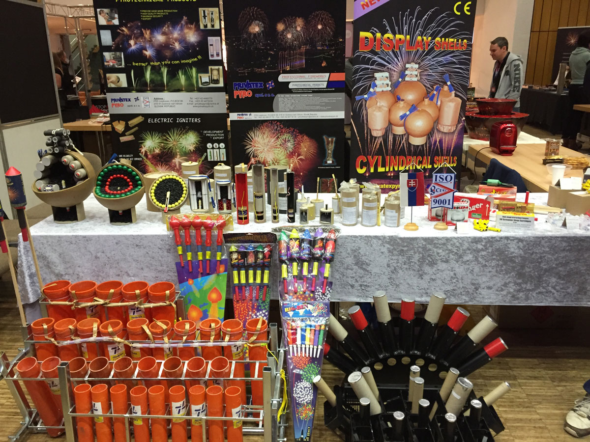 výstava pyrotechniky