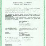 ADR bedne, certifikát wooden box