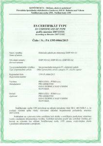 Elektrické pálniky, CE certifikát