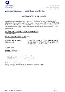 Elektrické pálniky, US certifikát